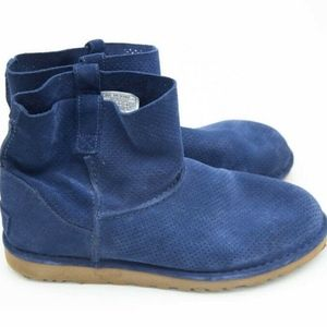 UGG Women's Marine Blue Unlined Mini Boots Sz 10
